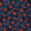 Detroit Tigers Flannel Fabric-Tie Dye