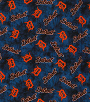 "Detroit Tigers Flannel Fabric 42""-Tie Dye, , hi-res"
