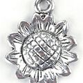 Blue Moon Charms-Sunflower 12PK/Antique Silver Plated