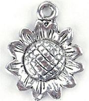 Blue Moon Charms-Sunflower 12PK/Antique Silver Plated, , hi-res