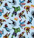 Marvel Knit Cotton Fabric-Retro Action Toss