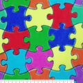 Fleece Fabric -Jigsaw Puzzle