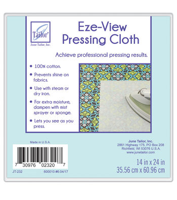 "June Tailor Eze-View 100% Cotton Press Cloth-24""x14"""