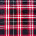 Anti-Pill Plush Fleece Fabric-Black & Red Plaid
