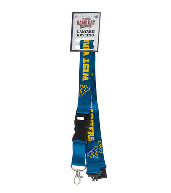West Virginia University Mountaineers Lanyard Keychain
