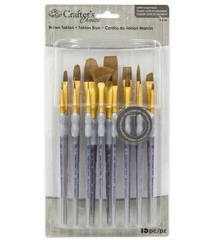 Royal & Langnickel Variety Brush Set 15pk-Brown Taklon