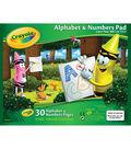 Crayola Alphabet and Numbers Pad 10\u0022X8\u0022-30 Sheets/Pkg