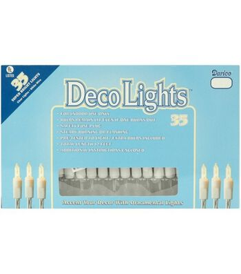Darice 35ct 12' Deco Lights-Clear