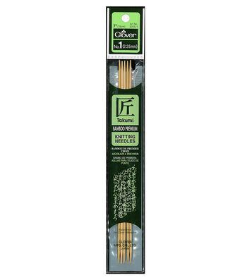 "Takumi Bamboo Double Point Knitting Needles 7"" 5/Pkg-Size 1/2.25mm"