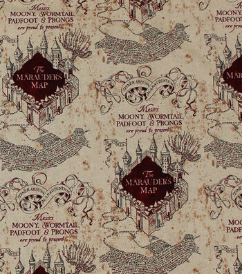"Harry Potter Quilt Cotton Fabric 44""-Marauders Map"