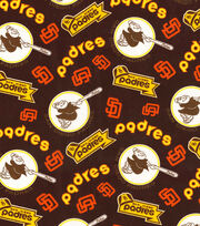 Cooperstown San Diego Padres Cotton Fabric 44'', , hi-res