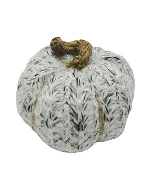 Simply Autumn Small Sweater Cable Pumpkin-Gray