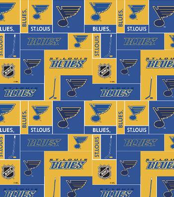 St. Louis Blues Cotton Fabric -Block