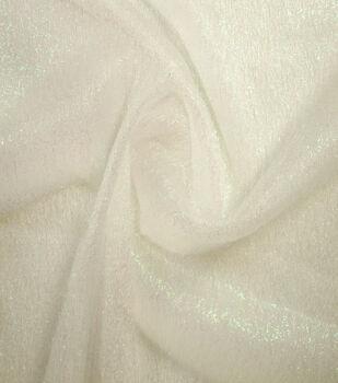 Netting Sparkle Mesh Fabric -White Iridescent