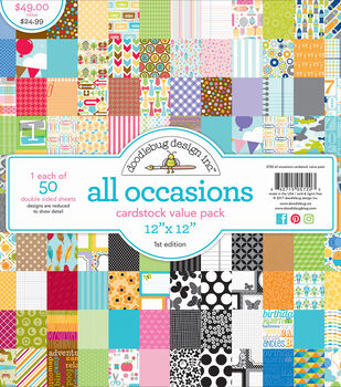 "Doodlebug Value Kit Cardstock 12""X12""-All Occasions"