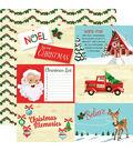 Santa\u0027s Workshop Double-Sided Cardstock 12\u0022X12\u0022-4\u0022X6\u0022 Journaling Cards
