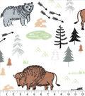 Nursery Flannel Fabric-Boone All Over Buffalo