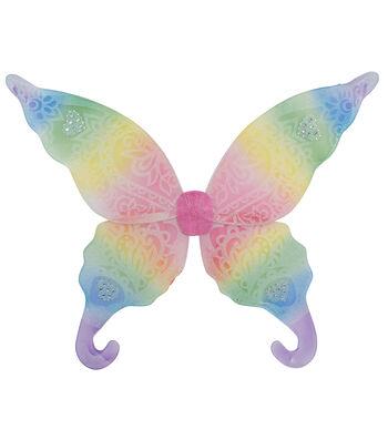 Maker's Halloween Adult Fairy Wings-Rainbow