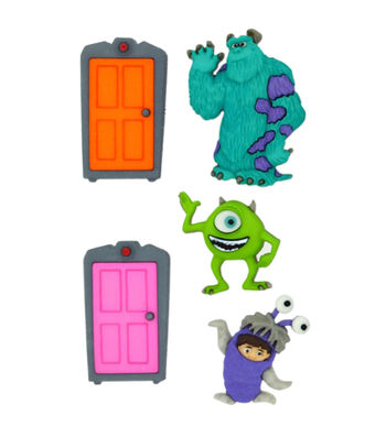 Disney Dress It Up Button Embellishments-Monsters, Inc.