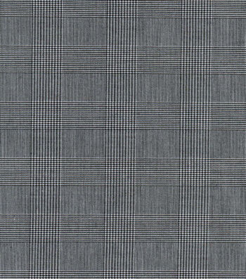 Suitings - Black  & White Check Poly Rayon Spandex Fabric