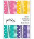 American Crafts Single-Sided Paper Pad 6\u0022X8\u0022 24/Pkg-Basics