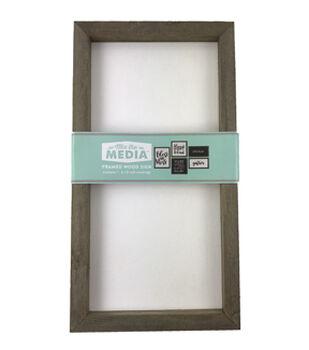 Mix the Media 8''x15'' Rustic Wood Frame