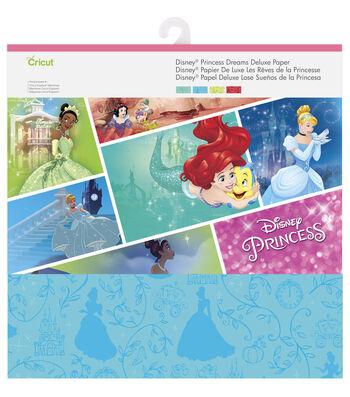 Cricut 12 Pack Disney Princess Dreams Deluxe Papers