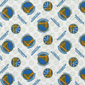 Golden State Warriors Cotton Fabric -Tossed Logo
