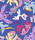 Hasbro My Little Pony Fleece Fabric -Pony Power