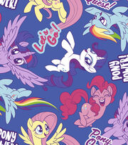 Hasbro My Little Pony Fleece Fabric -Pony Power, , hi-res