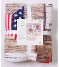 No Sew Fleece Throw Kit 72\u0027\u0027-Wood Flag Patch