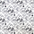 Harry Potter Flannel Fabric-Artifacts All Over