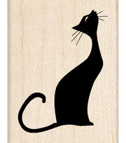 Inkadinkado Musical Cat Wood Mounted Stamp, , hi-res