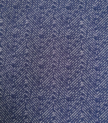 Refined Ponte Knit Fabric-Navy Herringbone