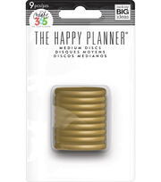 The Happy Planner Medium Discs-Gold Classic, , hi-res