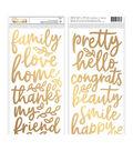 Jen Hadfield Along The Way Thickers Stickers-Phrase/Gold Foiled Foam