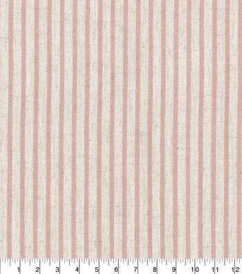 "Waverly Designer Upholstery Fabric 54""-Harlow Stripe Blush"