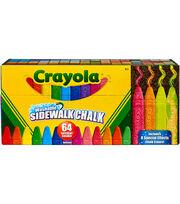 Crayola Washable Sidewalk Chalk-64 Colors, , hi-res