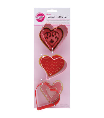 Wilton Metal Cookie Cutter Set 3/Pkg-Hearts
