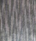 Brocade Linear Fabric-Black Gray & Gold