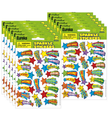 Shooting Stars Sparkle Stickers 12 Packs