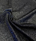 Casa Embellish Spring Stretch Metallic Knit Fabric 56\u0022-Black
