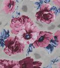 Snuggle Flannel Fabric -Emma Rosette