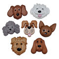 Jesse James Dress It Up Dog Fuzzy Face Button Embellishments
