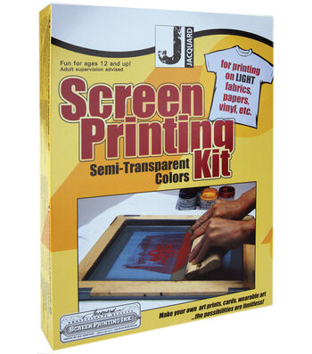 Jacquard Silk Screen Printing Kit-Semi Transparent