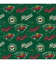 Minnesota Wild Cotton Fabric-Tone on Tone, , hi-res
