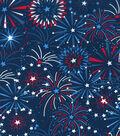 Patriotic Cotton Fabric 43\u0027\u0027-Star Fireworks