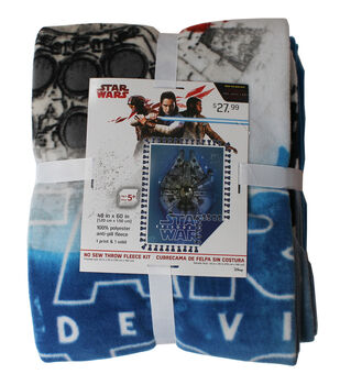 Star Wars VIII No Sew Fleece Throw -The Last Jedi Millennium Falcon