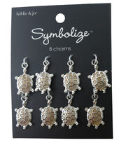 hildie & jo Symbolize 8 Pack Turtle Silver Charms, , hi-res