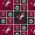 Arizona Coyotes Cotton Fabric -Block